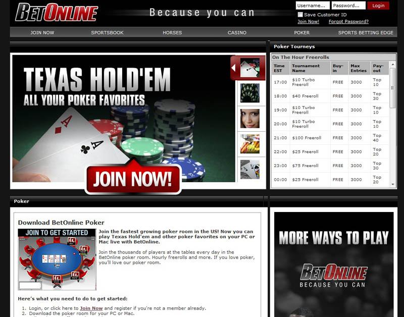 bet online poker download